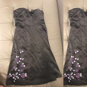 Strapless formal evening party dress